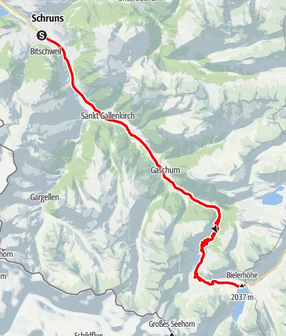 Kaart / Silvrettasee Tour