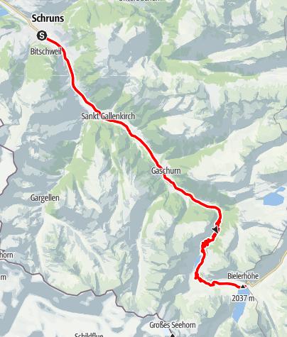 Map / Silvrettasee Tour