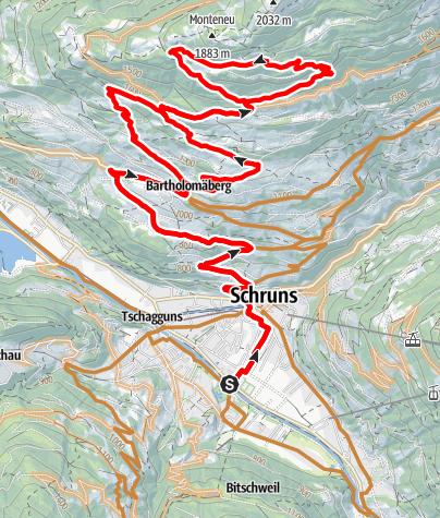 Karte / Jagdhütten Tour über Fritzensee