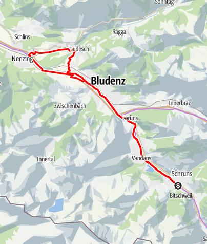 Karte / Montafon - Walgau Runde