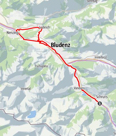 Kaart / Montafon - Walgau Runde