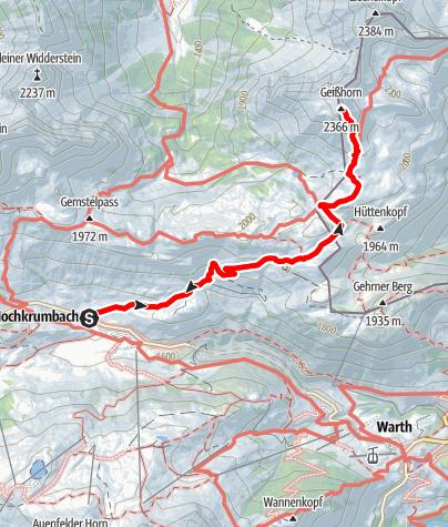 Karte / Geißhorn, 2.366m