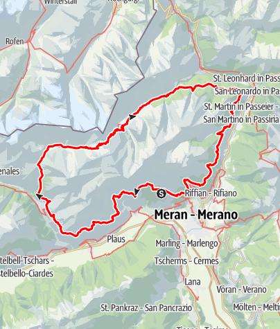 Karte / Der Meraner Höhenweg