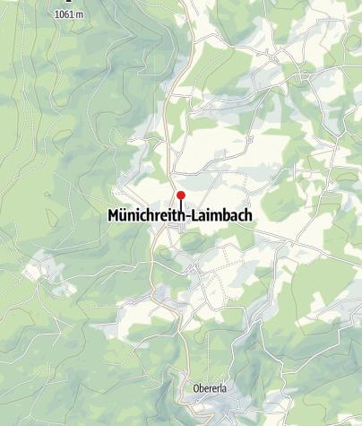 """Mapa / Gasthof Jagsch """"Zum grünen Baum"""""""