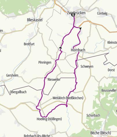 Karte / Europäischer Mühlenradweg