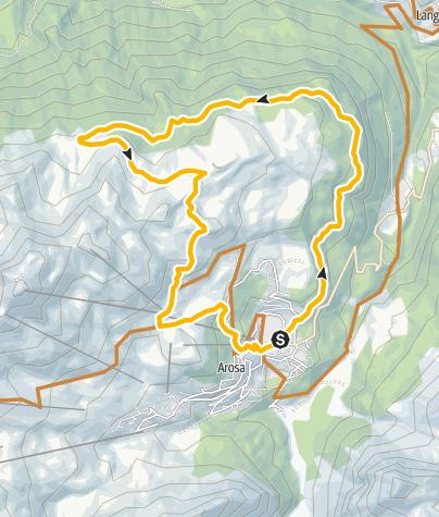 Map / All Mountain: Arosa - Scheidegg - Arosa