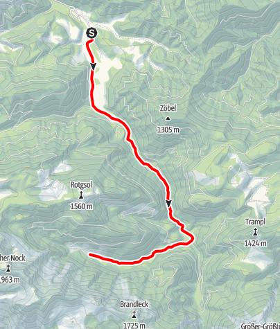Karte / Blumaueralm ab Molln (Bodinggraben, Jaidhaus), Reittour