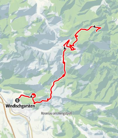 Karte / Werfneralm über Schaumberg- und Ebenforstalm ab Windischgarsten (Mayrwinkl), Reittour