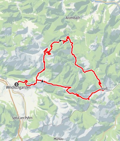 Karte / Nationalpark Kalkalpen (3-tägige Runde), Reittour