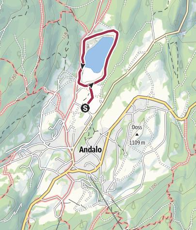 Cartina / Giro lago di Andalo