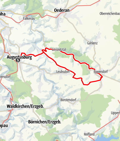 Karte / Eppendorf- Schloss Augustusburg
