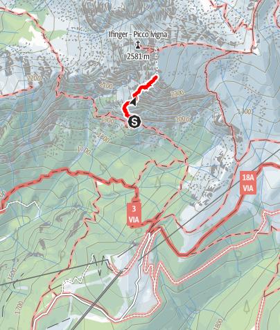 """Map / Via ferrata """"Heini Holzer"""" Ifinger"""