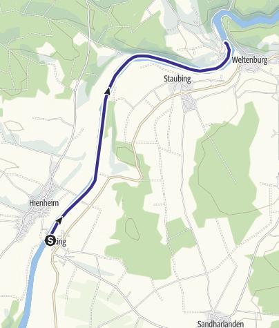 Karte / Bootswandern Eining - Weltenburg