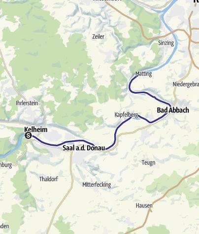 Karte / Bootswandern Kelheim - Matting