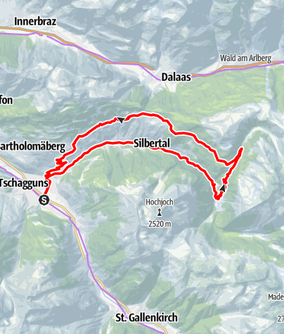 Map / Montafon E-Bike Genussrunde