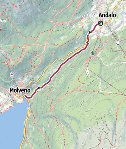 Cartina / Andalo - Molveno