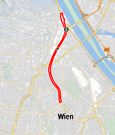 Karte / Kurier Donaukanalstrecke