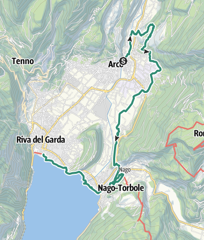 Map / Garda Trek - LowLoop 2: from Arco to Riva del Garda