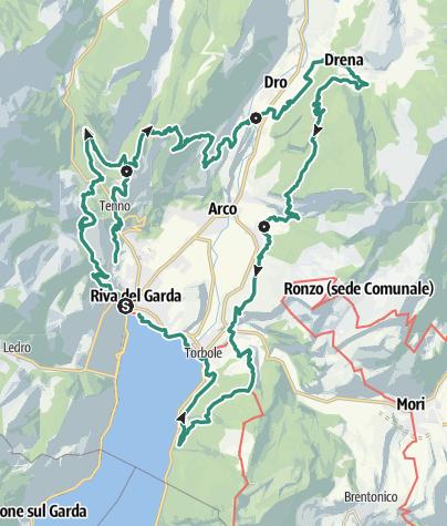 Map / GardaTrek - Medium Loop: 4 stages around Garda Trentino