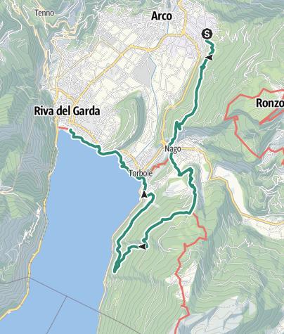 Karte / Garda Trek – Medium Loop 4: Von Bolognano nach Riva del Garda