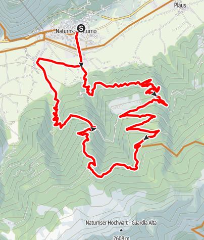 Mapa / Naturnser Runde