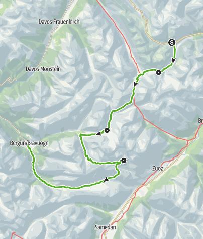 Karte / Kesch-Trek Gesamttour (4 Etappen)