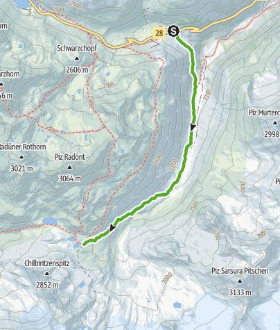 Kaart / Kesch-Trek Etappe 1