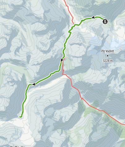 Karte / Kesch-Trek Etappe 2
