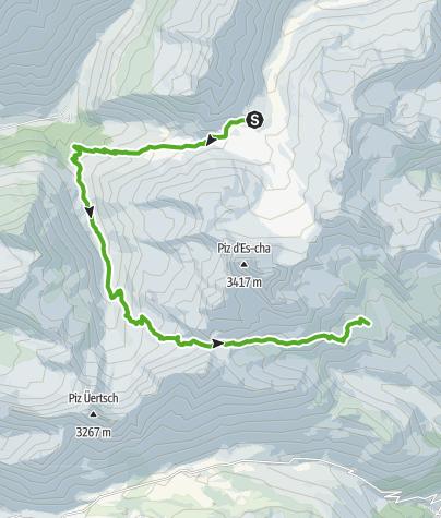 Kaart / Kesch-Trek Etappe 3
