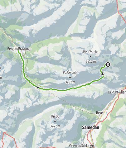 Karte / Kesch-Trek Etappe 4
