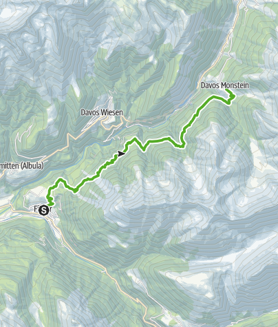 Cartina / 35.13 Walserweg Graubünden Etappe 13: Filisur - Monstein
