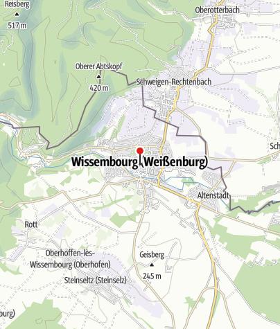 Map / Office de tourisme du Pays de Wissembourg