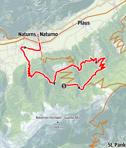 Mapa / Naturnser Nörderberg Tour