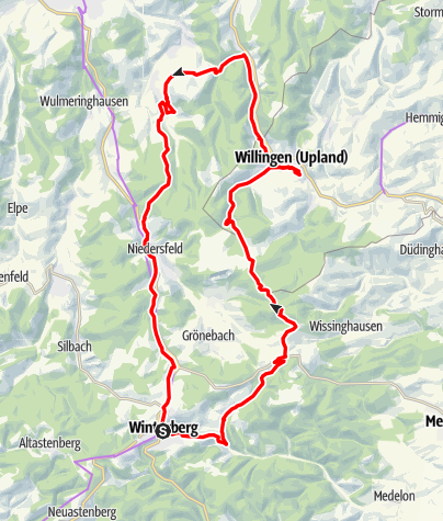 Map / Rundtour Winterberg-Willingen