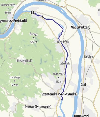 Map / Kisoroszi - Szentendre túra