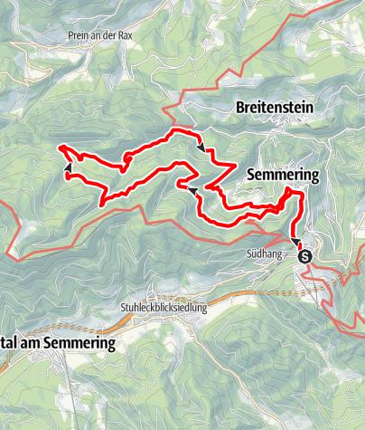 Mapa / Rundwanderweg Thalhof-Breitenstein-Semmering