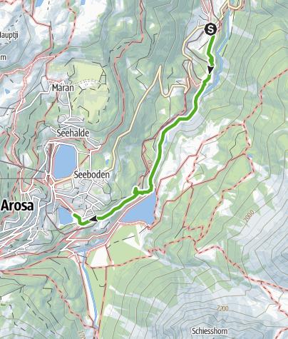 Kaart / Kulturwanderung: Arosa - Litzirüti