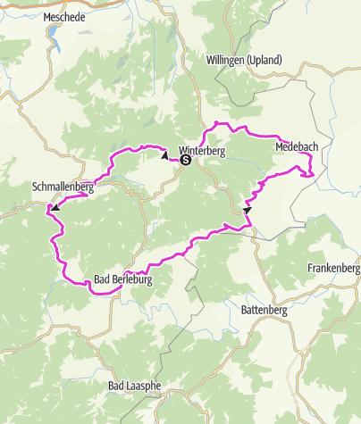 Karte / Rothaargebirge & Medebacher Bucht
