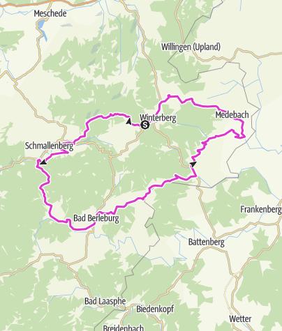 Map / Rothaargebirge & Medebacher Bucht