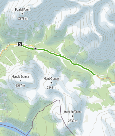 Karte / Fuorntal: Entlang dem wilden Bergbach
