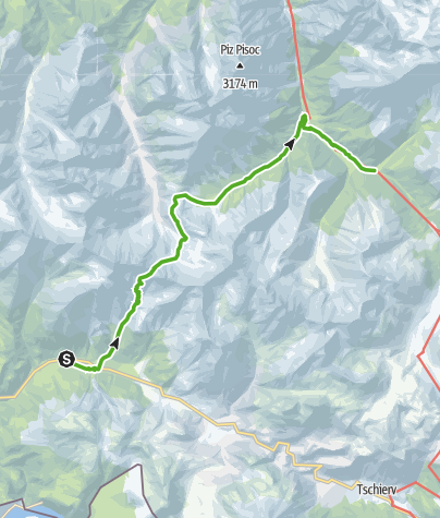 Karte / Fuorcla Val dal Botsch : Die Drei-Täler-Tour