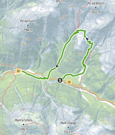 Karte / Margunet (Naturlehrpfad im Schweizerischen Nationalpark)