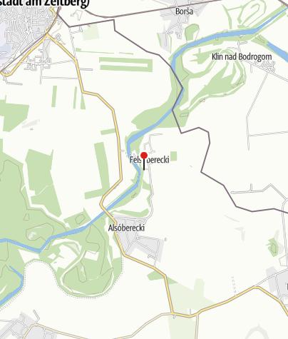 Mapa / Bodrog Turistaház és Kemping