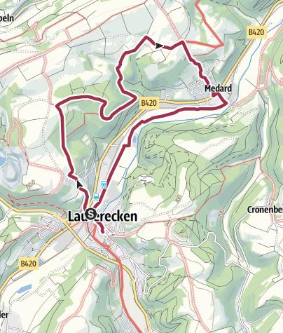 Karte / Lauterecken - kleine Rundtour