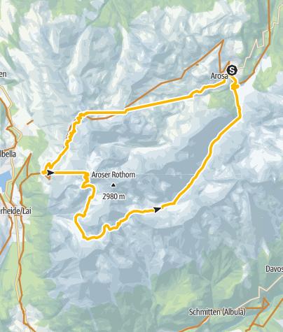 Karte / Enduro: Furcletta via Hörnli