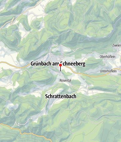 Karte / Bewegungsarena 5 Freunde im Schneebergland - Grünbach (Schubertlinde)