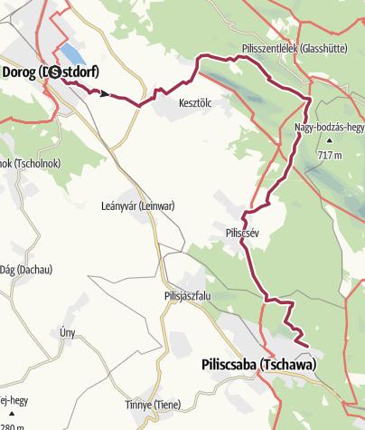 Karte / Pilisi vándorlás - 1. szakasz (Dorog - Piliscsaba)