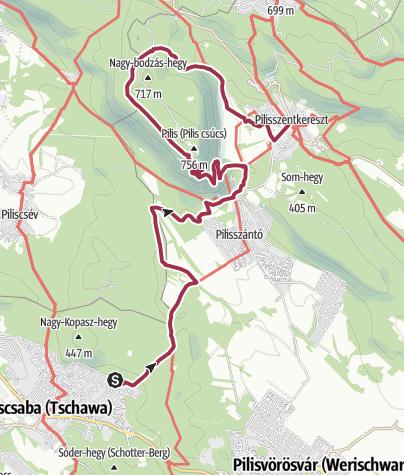 Térkép / Pilisi vándorlás - 2. szakasz (Piliscsaba - Pilisszentkereszt)