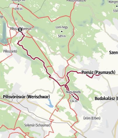 Karte / Pilisi vándorlás - 3. szakasz (Pilisszentkereszt - Pomáz)