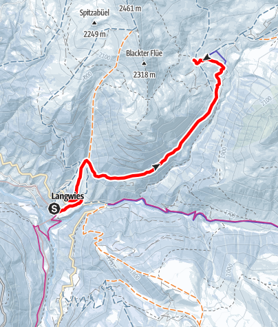 Karte / Langwies – Fondei